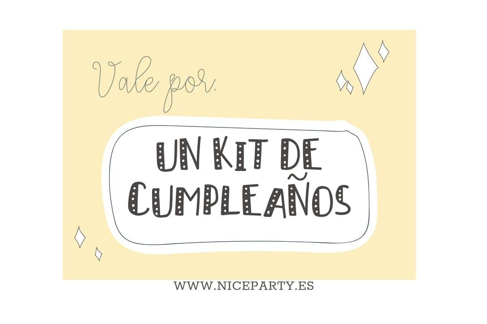 Image of Vale regalo 1 kit de fiesta