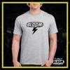 T-Shirt Fulmine Grigia logo Nero UOMO