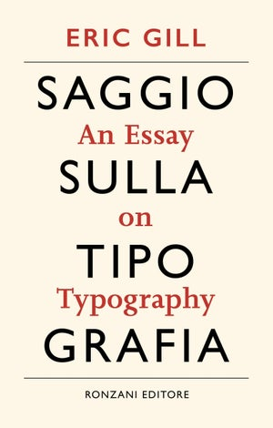 Image of Eric Gill. Saggio sulla tipografia (An Essay on Typography)