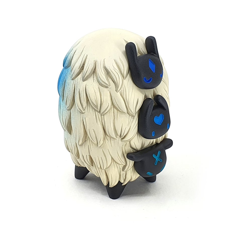 "Image of 3"" Marked Blue Trisheepi - Launch pieces - Resin Designer Toy"