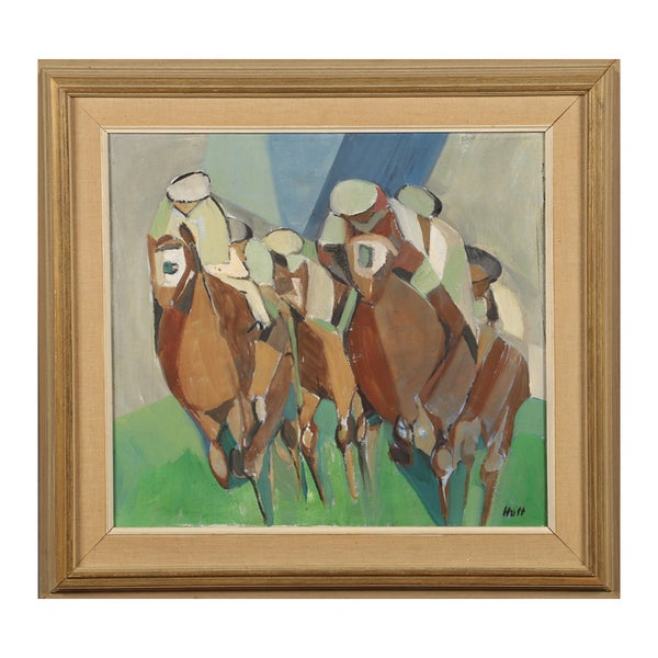 Image of Mid Century. Swedish Oil Painting, 'The Gallop' TORSTEN HULT