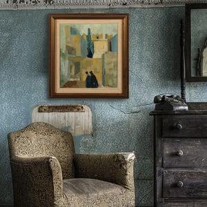 Image of Swedish 1955 oil painting. Greta Turen (1901-1979)