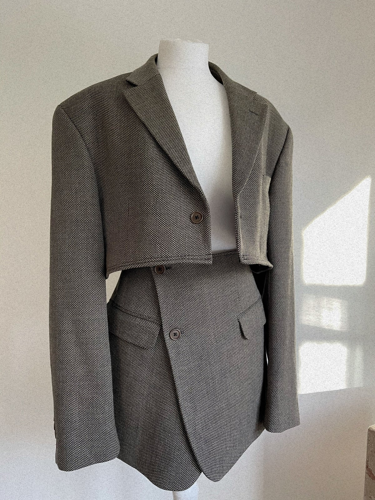 Reworked Grey Tweed Suit