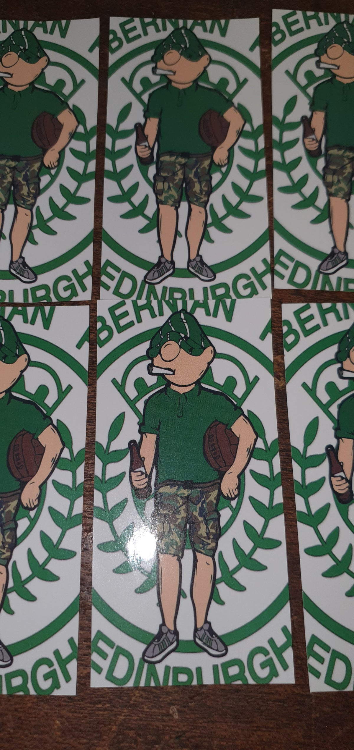 Pack of 25 10x5cm, Hibs, Hibernian retro style football/ultras stickers.