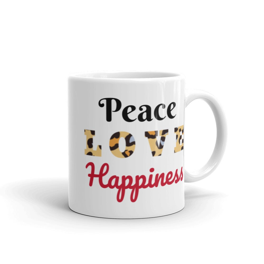 Image of Peace Love and Happiness in a cup!