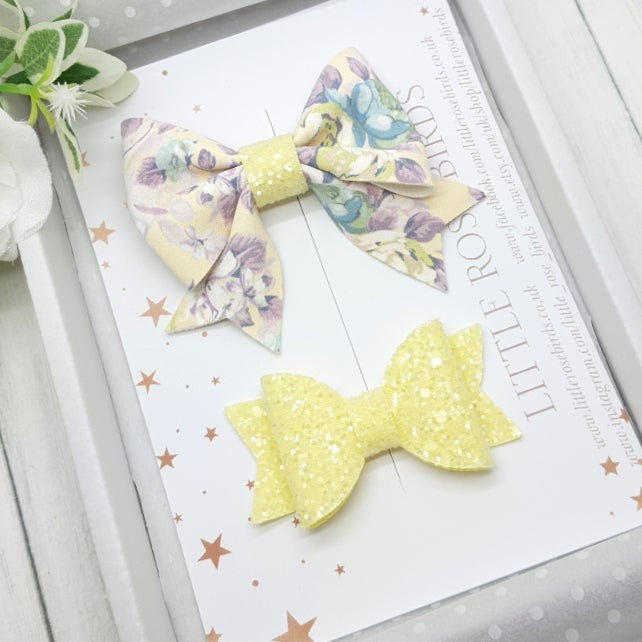 Image of Floral & Lemon Bow Set