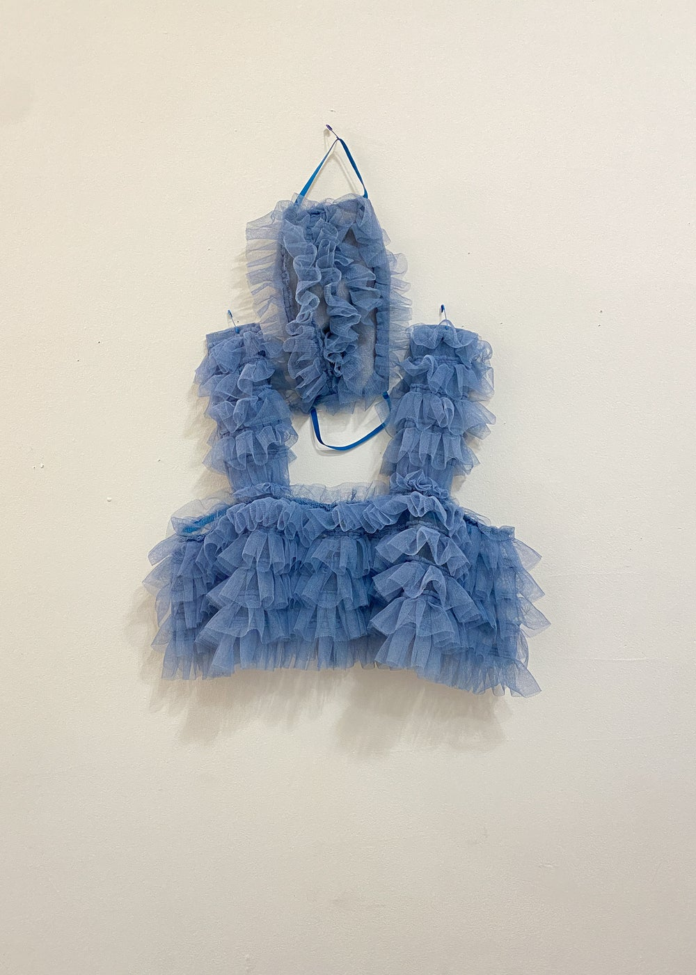 Blue ruffle set