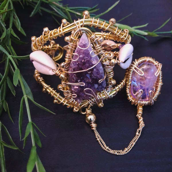 Image of I Amethyst ~Hand Harness
