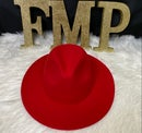 Image 1 of XL 60cm  Solid Red (Wide Brim)