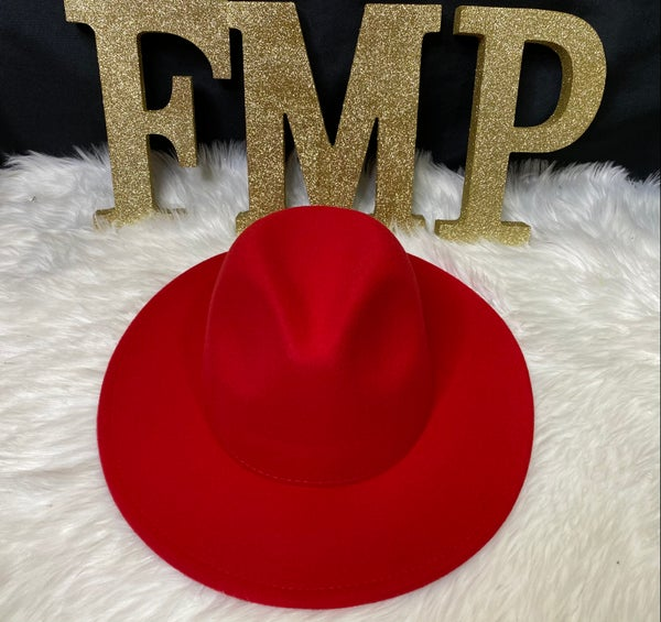 Image of XL 60cm  Solid Red (Wide Brim)
