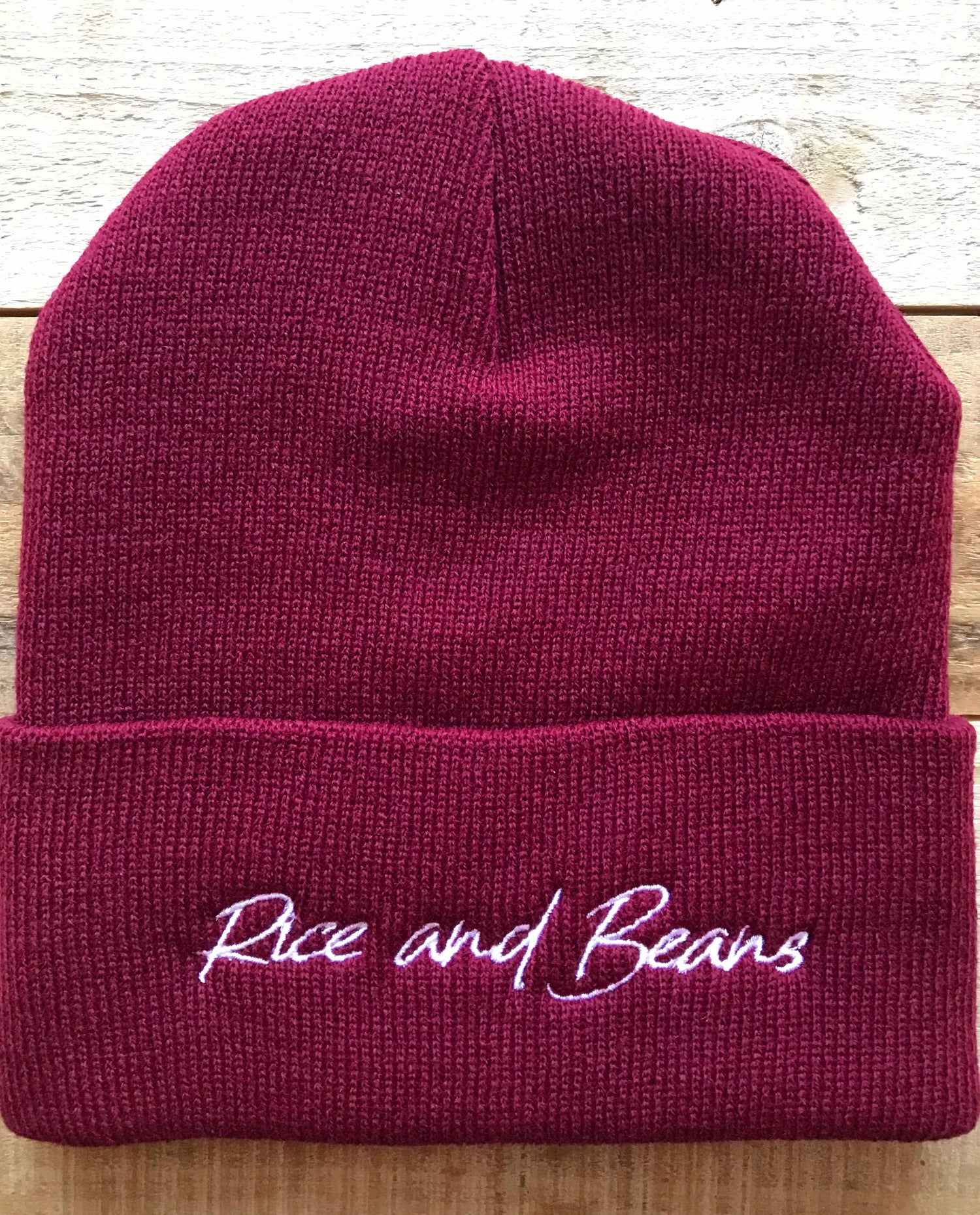 Image of Rice and Beans - Maroon Beanie