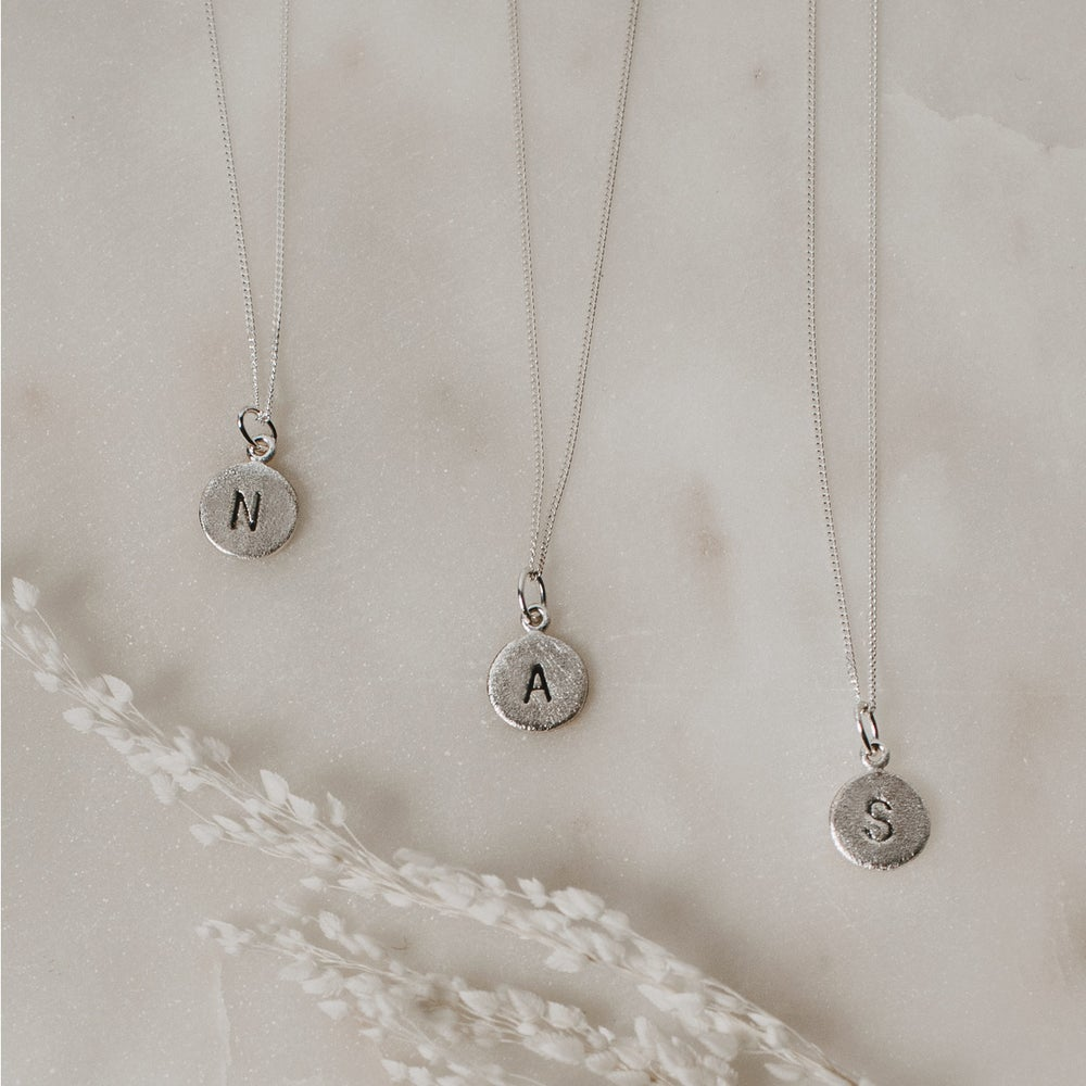 Image of Frosted Initial Necklace