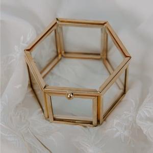 Image of Hexagonal Glass Trinket Box