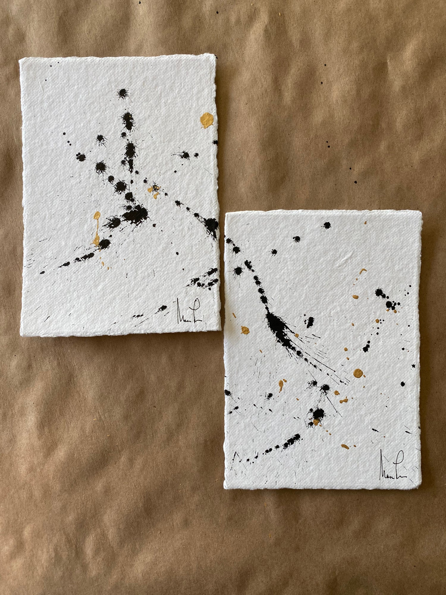Image of ML ART Splatter Studies 1 (set of 2)
