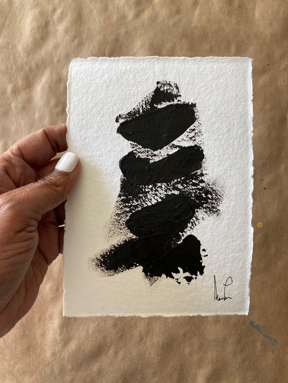 Image of Black Tie Cotton Rag  (10)