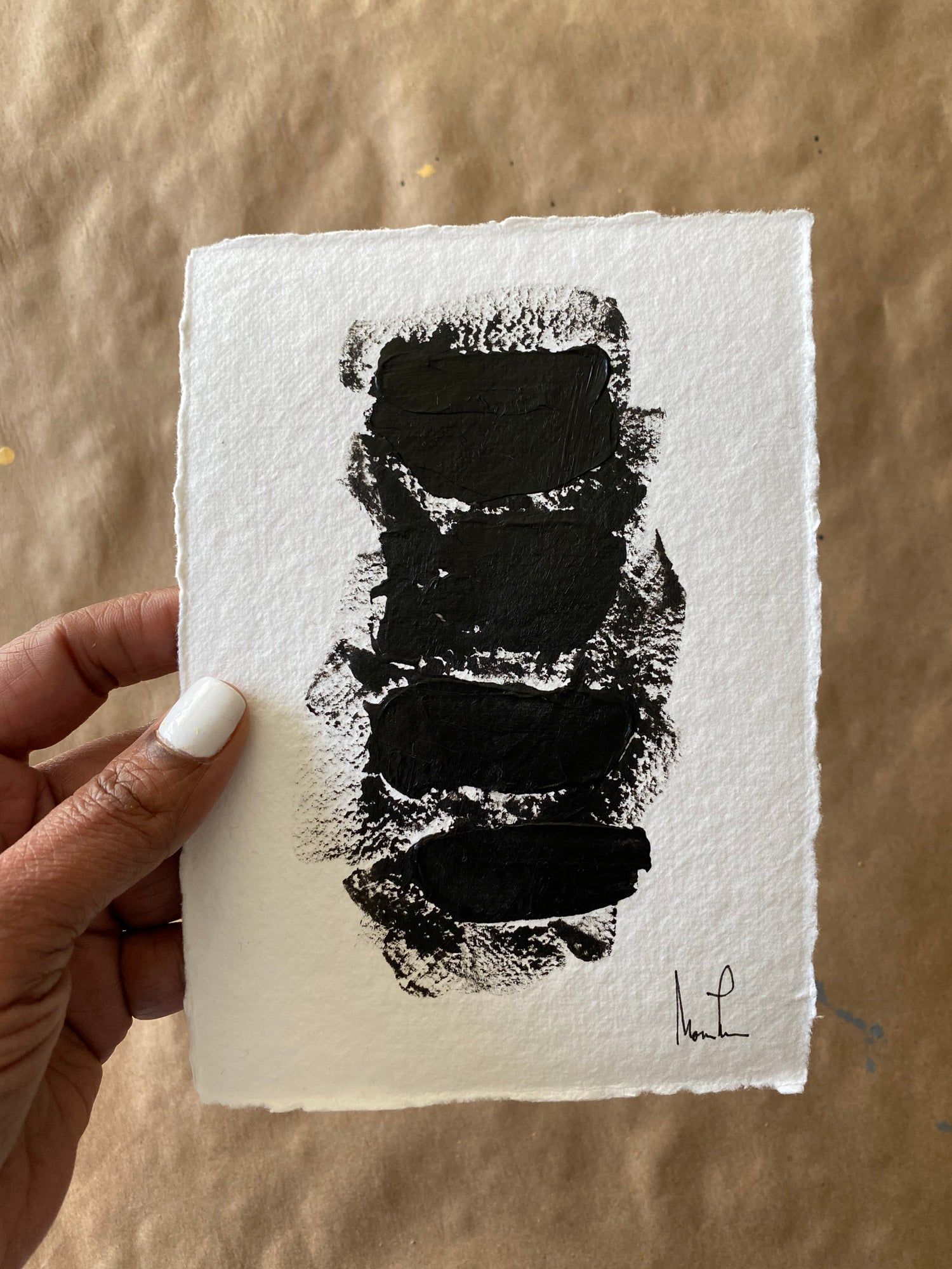 Image of Black Tie Cotton Rag (15)