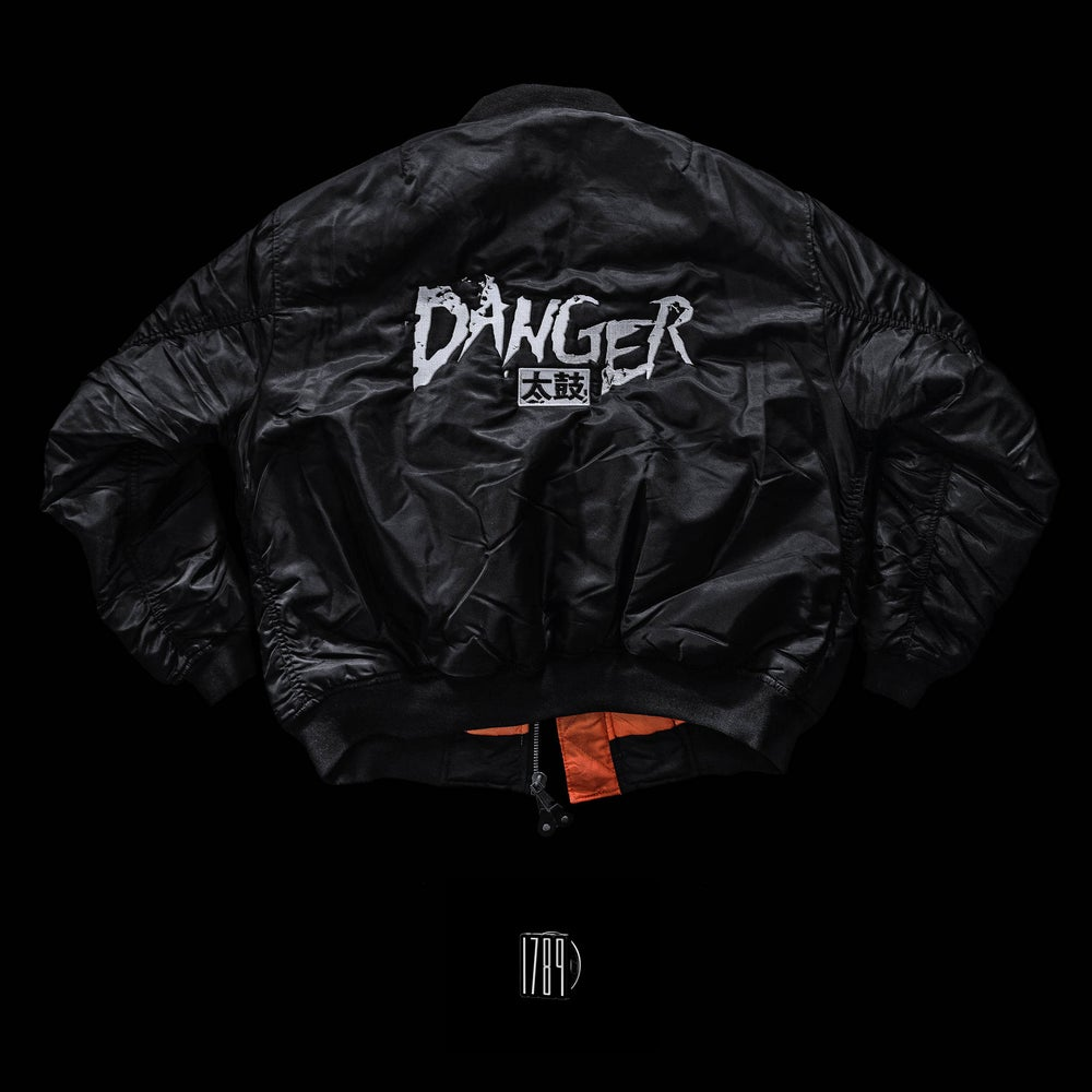 Image of PRE-ORDER / Danger 太鼓 - MA-1 Flight Jacket Embroidered Logo (1789 Pin included)