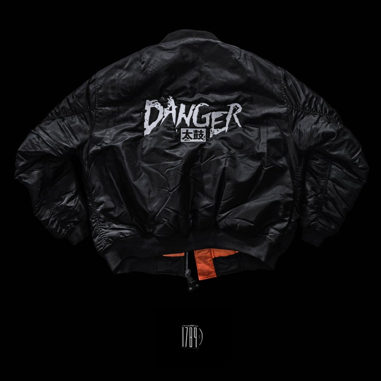 Image of Danger 太鼓 - MA-1 Flight Jacket Embroidered Logo (1789 Pin included)