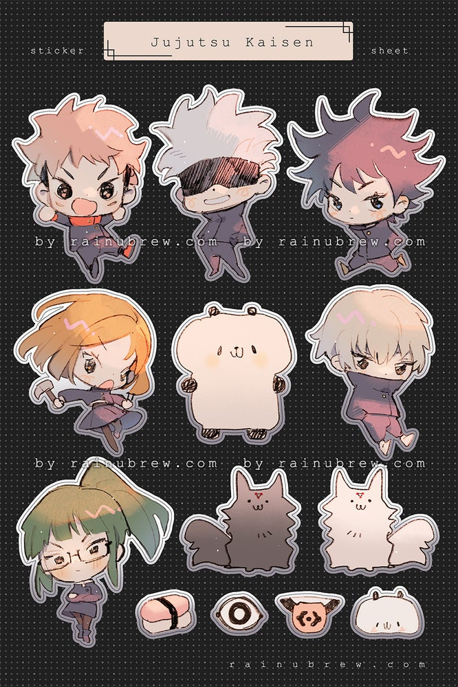 Image of Jujutsu Kaisen | 4x6 sticker sheets