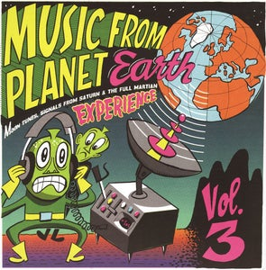 "Image of 10""LP. V.A. : Music From Planet Earth Vol 3.  + FREE M. Bontempi artwork."
