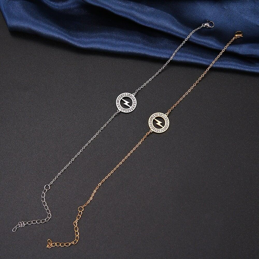 Lightning Bolt Pendant Bracelet (Stainless Steel)