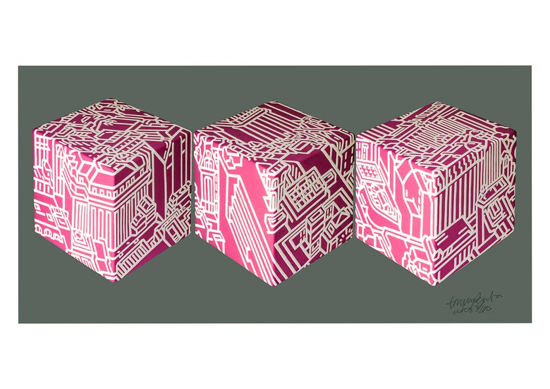 Image of Cubes three_Pink