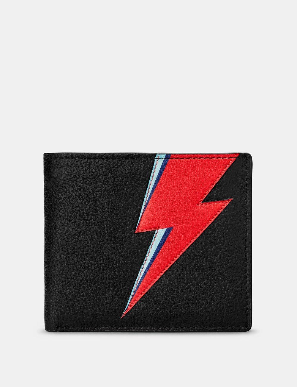 Lightning Bolt black leather Wallet