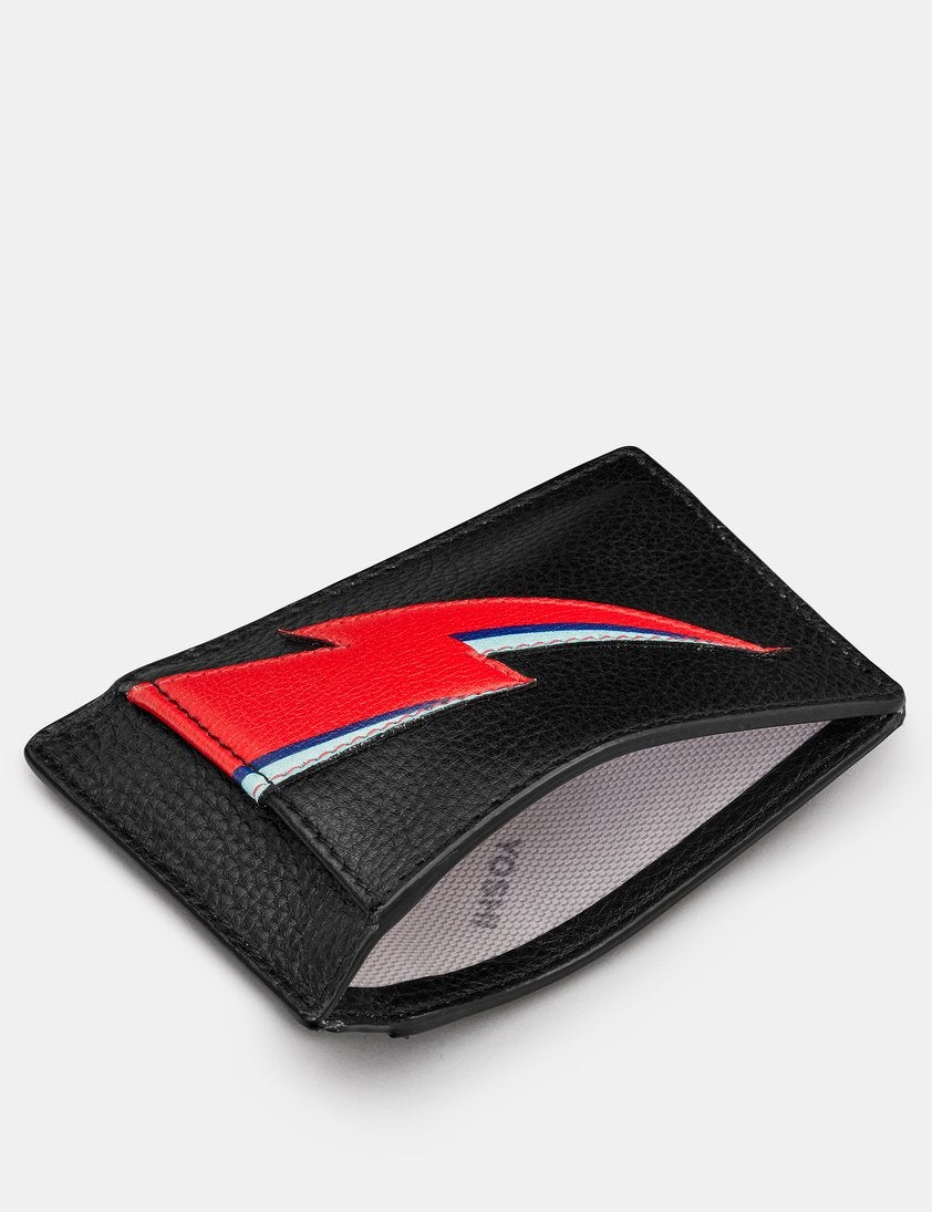 Lightning Bolt Compact Leather Card Holder