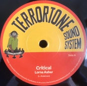 "Image of Lorna Asher/Jerry Lionz  'Critical/Critical Dub' - Terrortone Sound System (7"" vinyl New UK roots)"