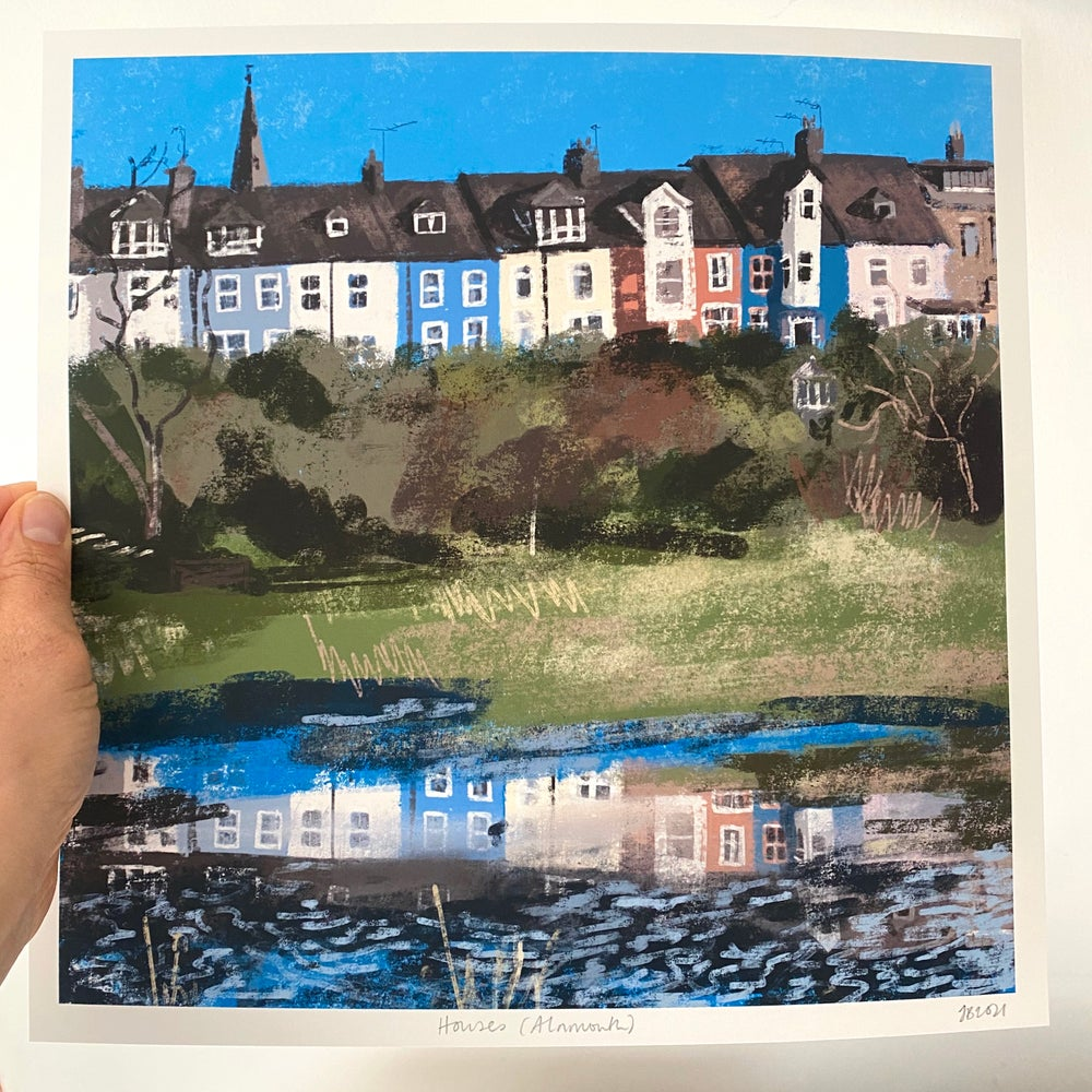 Image of 'Houses (Alnmouth)' Archive Quality Print