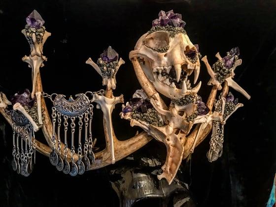 Image of Embellished Bobcat - Antler Crown