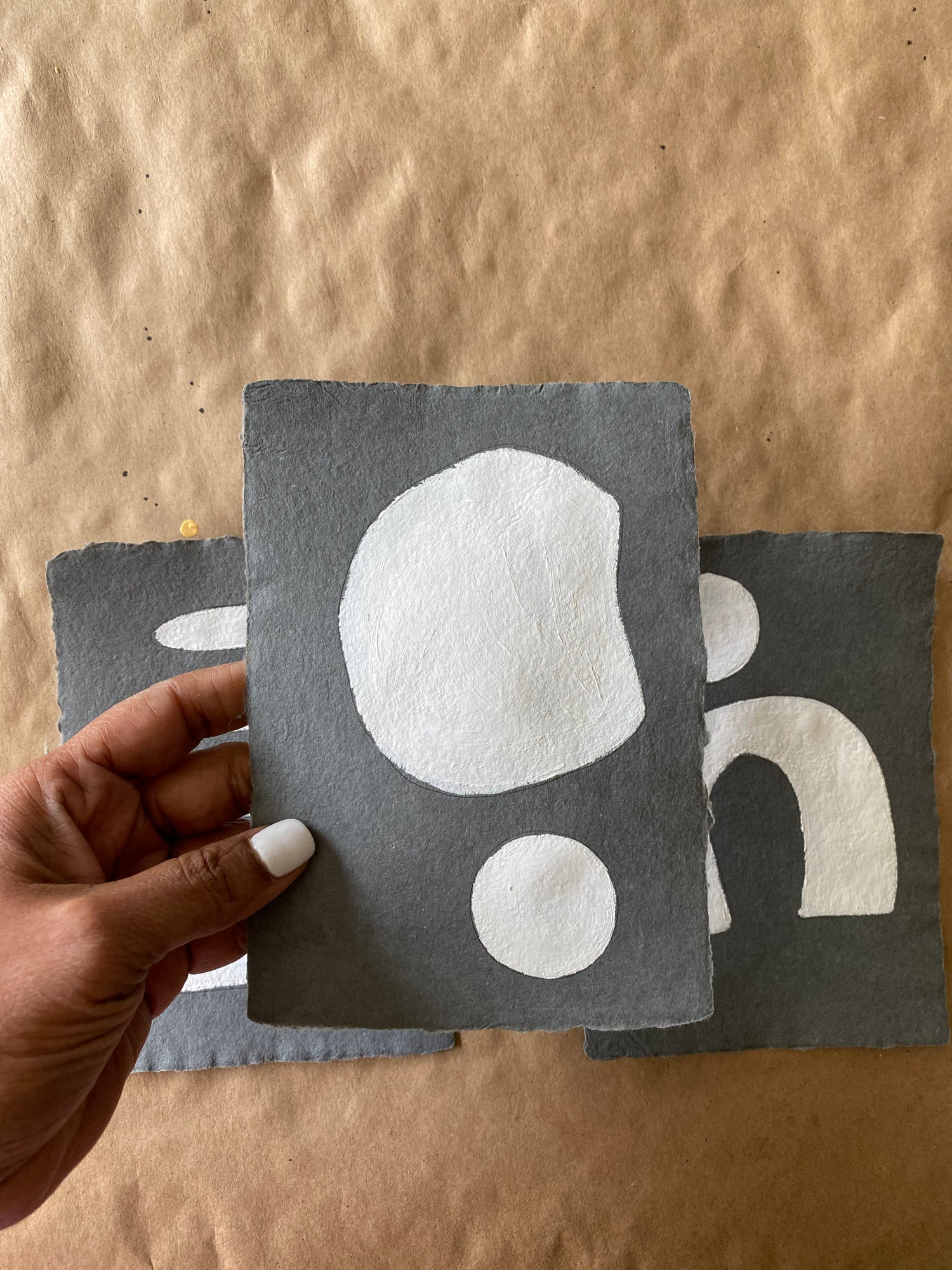 Image of ML • The Charcoal Shape Collection • Handmade Paper No. 2