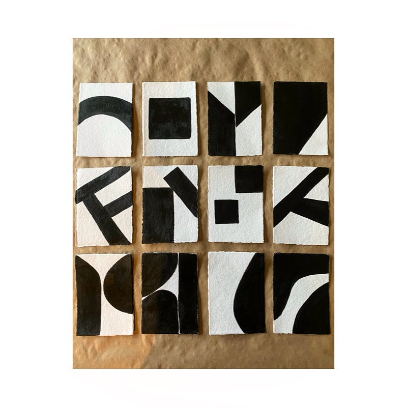 Image of ML• The Shape Collection • Handmade Paper Set of 12