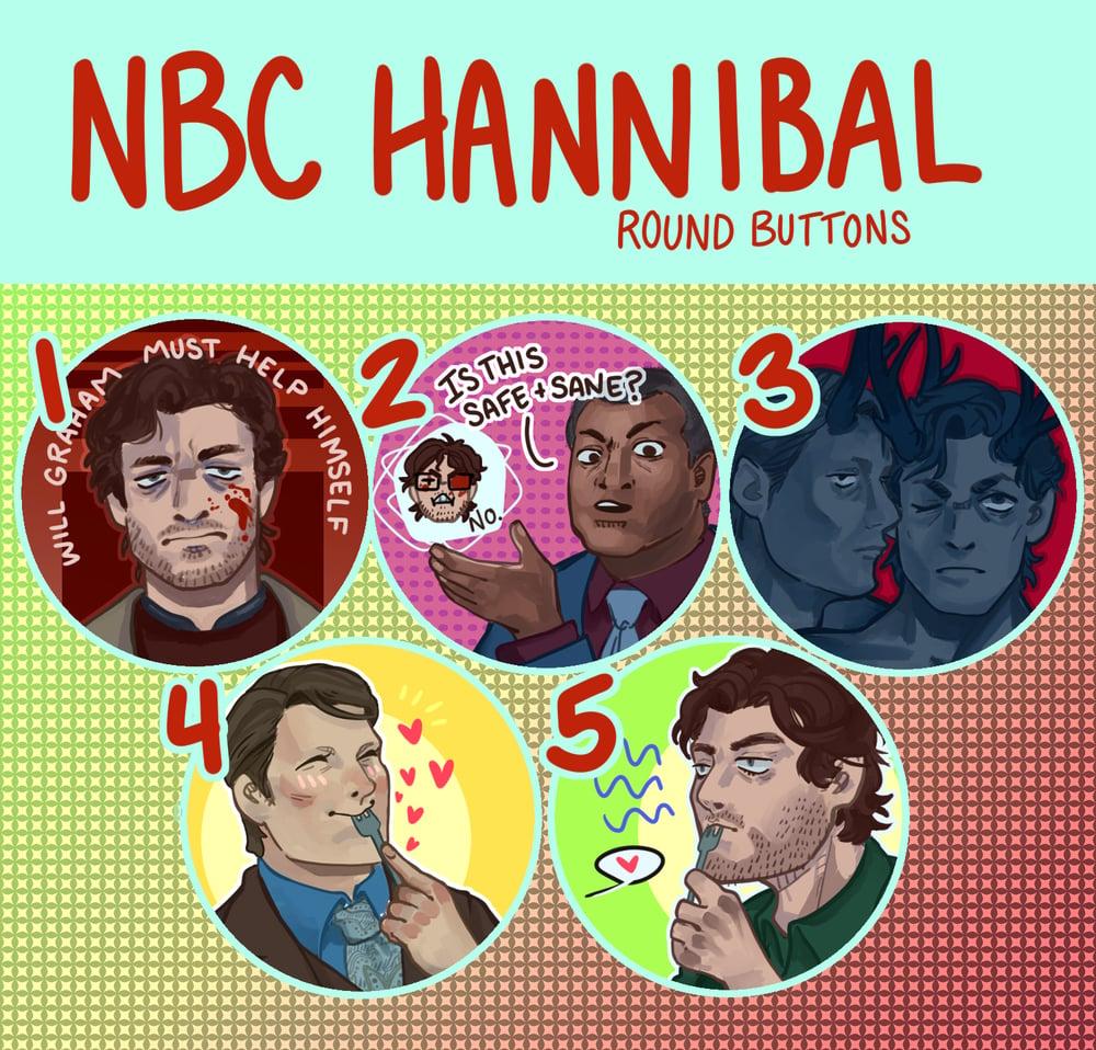 NBC Hannibal Buttons!