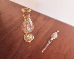 Glass Perfume Dabber with Gold Linework
