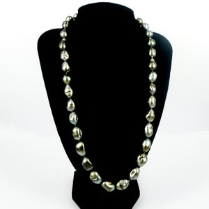 Image of Natural Tahitian Pearl long strand necklace. SH1303