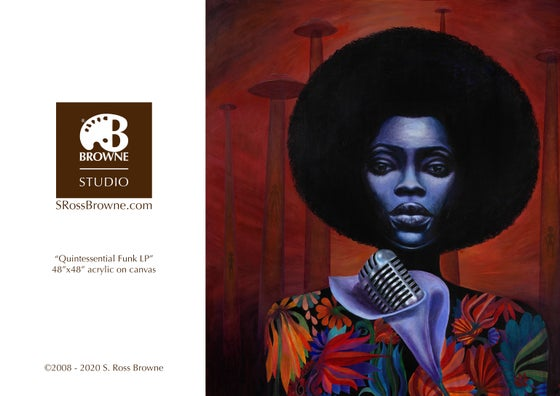 "Image of ""Quintessential Funk LP"" Greeting Card"