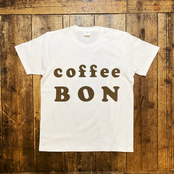 Image of Coffee BON OFFICIAL LOGO SHIRT -WHITE-