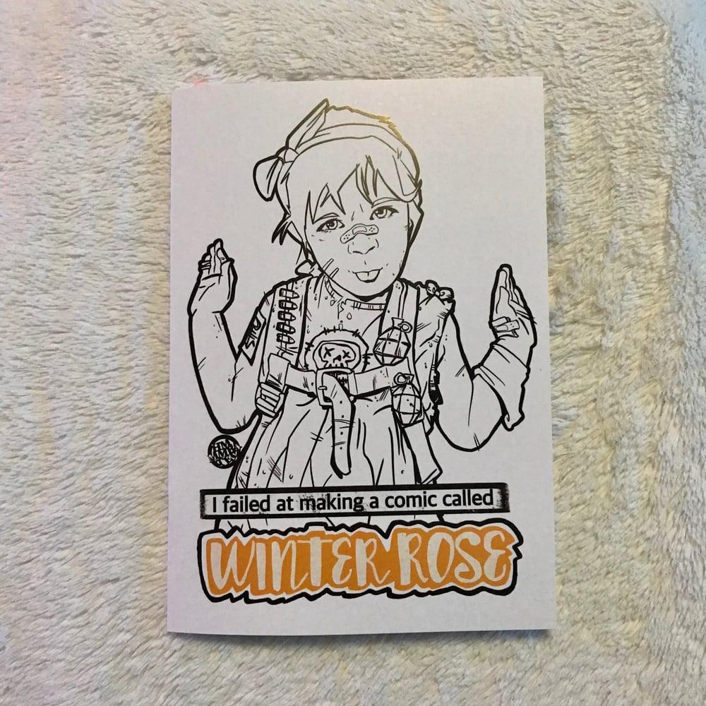 Image of I failed at making a comic called winterrose bookazine