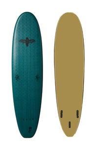 Image of COFFIN 7'0 THRUSTER <br> OLYMPIC GREEN / GOLD!