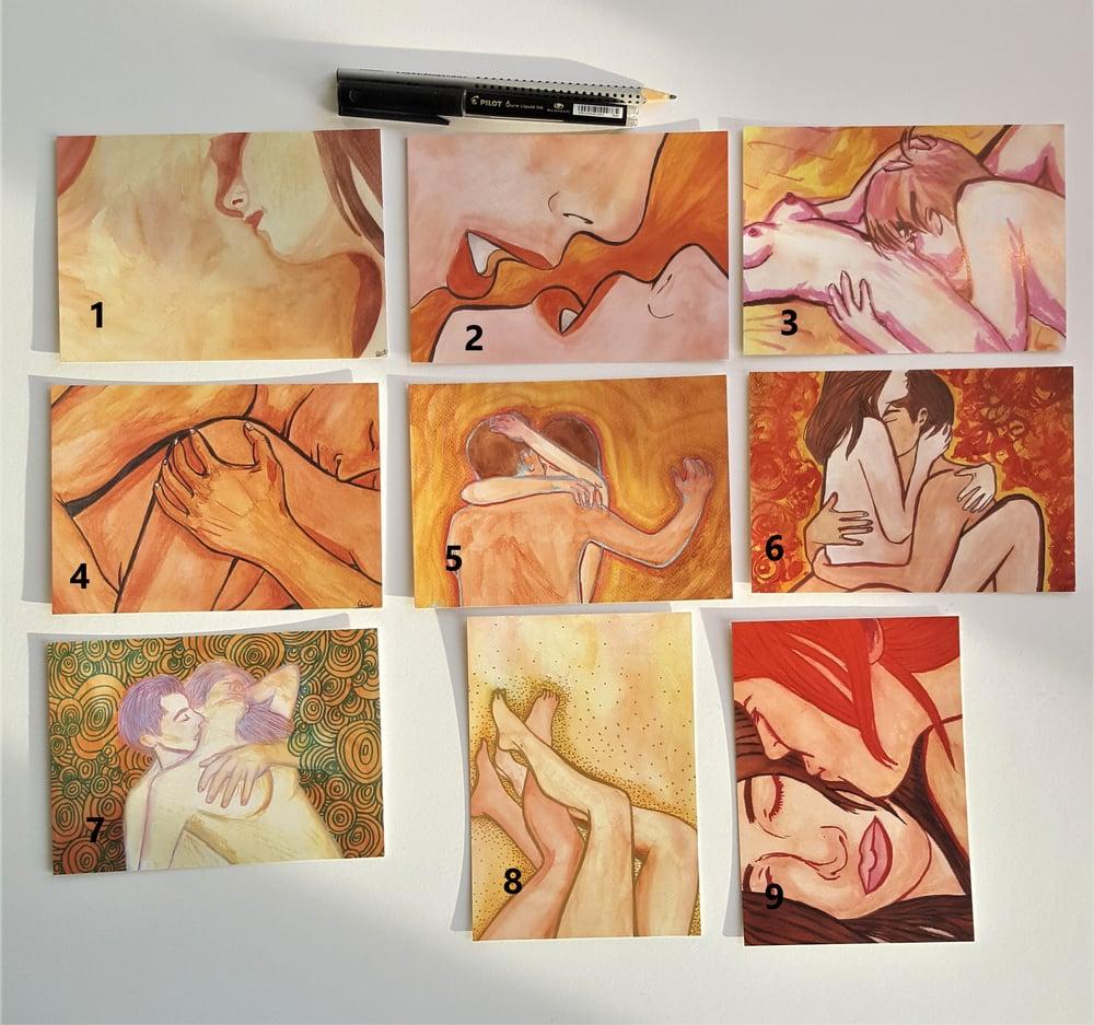 Intimacy postcards