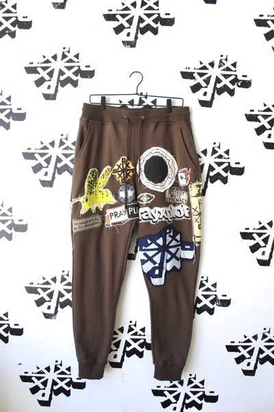 Image of all the important parts sweatpants in brown