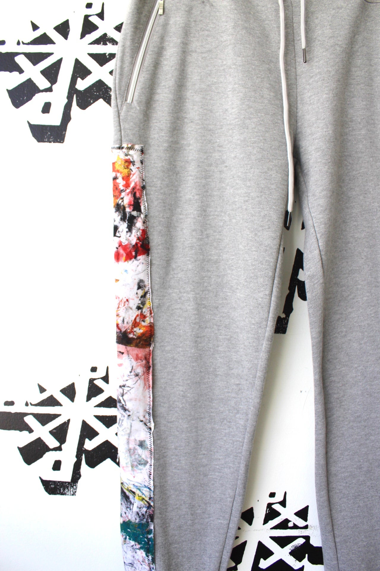 Image of clean up nice sweatpants in gray