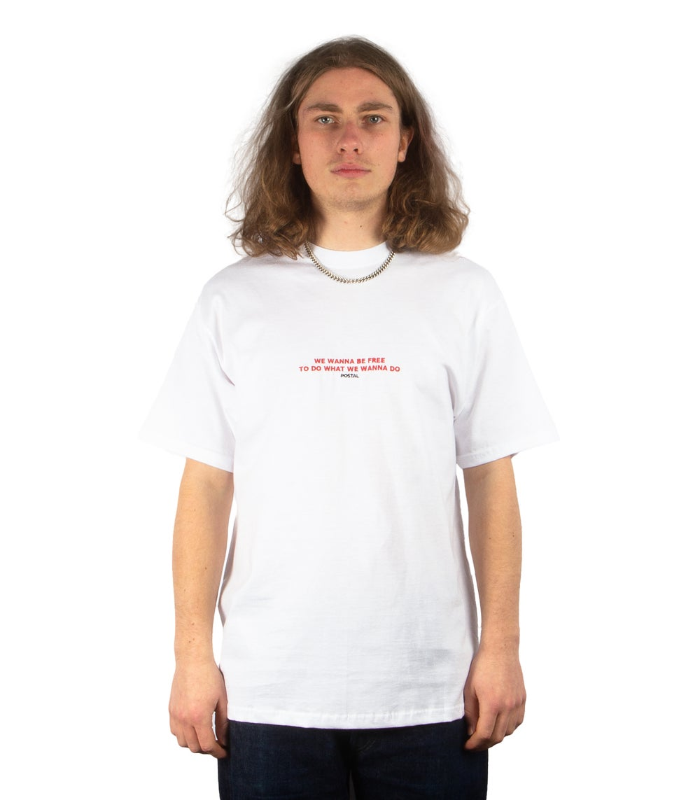 WANNA BE TEE IN WHITE