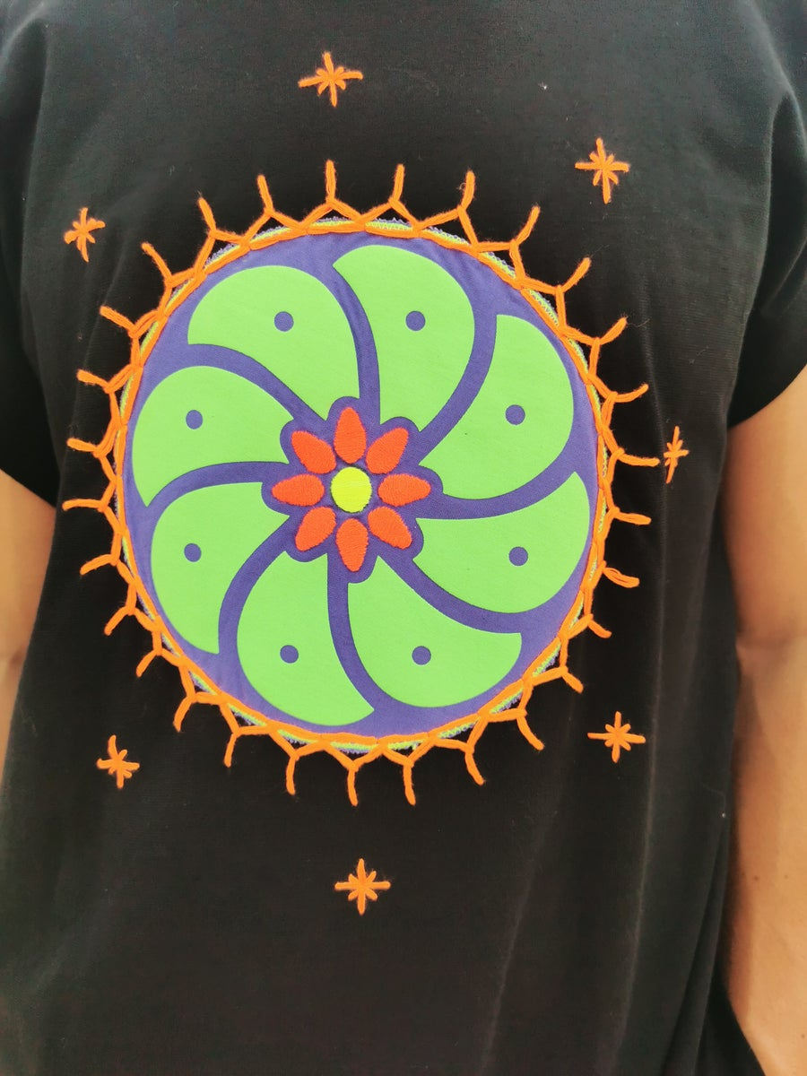 Image of Black Peyote Tunic