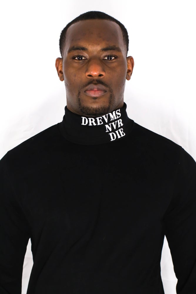 Image of DREVMS NEVER DIE TURTLENECK (ONYX)