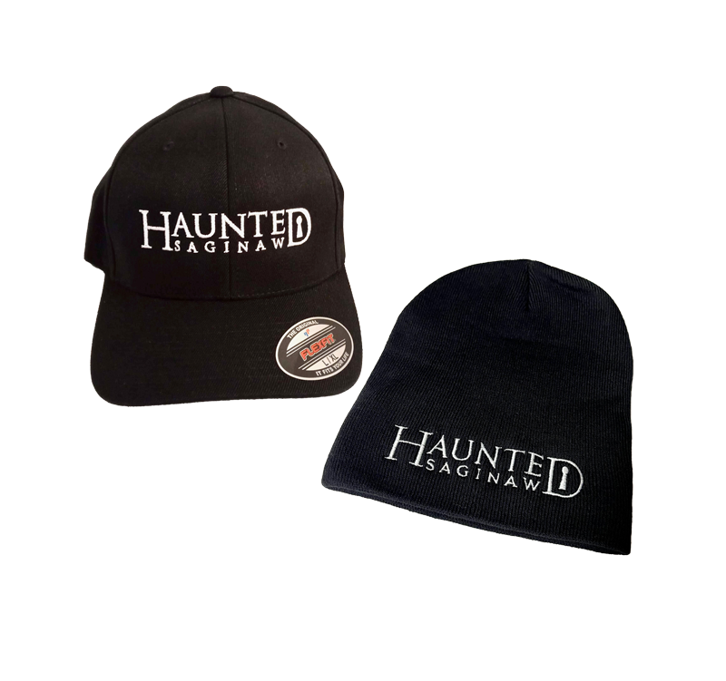 Image of Haunted Saginaw Logo Hat and Beanie Combo