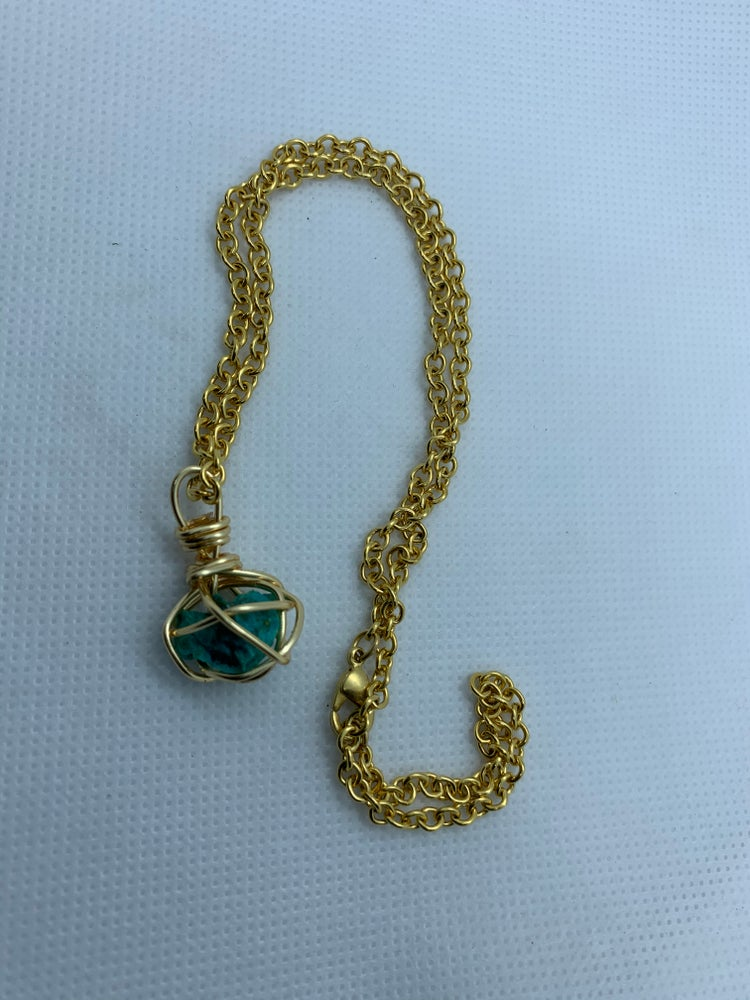 Image of Chrysocolla necklace