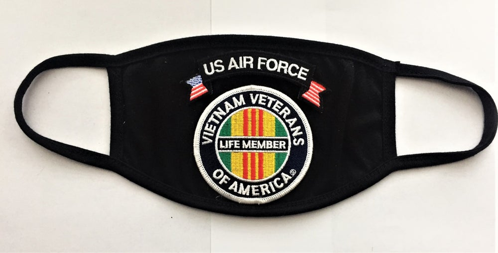 Image of Vietnam Veterans Of America Life Member US Air Force Face Mask