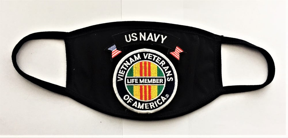 Image of Vietnam Veterans Of America Life Member US NAVY Face Mask